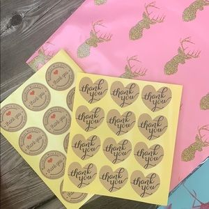 Other - Polymailer + thank you stickers || 30